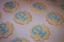 "Initial ""P"" Sugar Cookies made exclusively for Southern Traditions PANDORA Trunk Show"