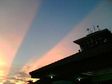 Foto Langit Terbelah di Yogyakarta