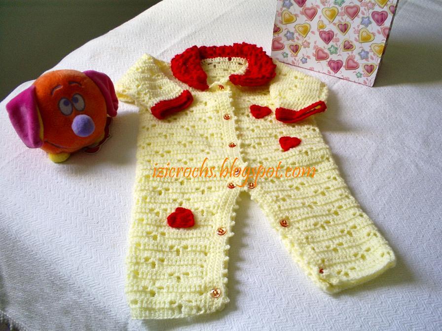 Izildinha.com: macacão de croche para bebê