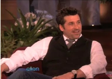 Patrick Dempsey Ellen DeGeneres McDreamy Grey's Anatomy February 11 2010 screencaps images photos pictures captures screengrabs dyslexia actors