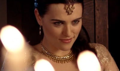 Merlin The Tears of Uther Pendragon screencaps Morgana Katie McGrath wicked smile smirk images photos pictures screengrabs