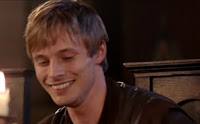 Merlin The Tears of Uther Pendragon screencaps images photos pictures screengrabs Arthur Bradley James smile grin