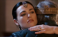 Merlin The Tears of Uther Pendragon Anthony Head Morgana Katie McGrath hug screencaps images photos pictures screengrabs