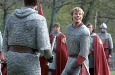 Merlin The Tears of Uther Pendragon screencaps Arthur Bradley James taunting chainmail images photos pictures screengrabs