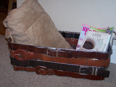 repurposed leather belt http://bec4-beyondthepicketfence.blogspot.com/2011/02/belted-inspiration.html
