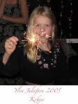 Barnbarnet Ylva 9 år julen 2005