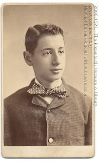 Morris Rosenbach as a young man, perhaps around the time of his own bar mitzvah.  2006.1521.  The Rosenbach Museum & Library.