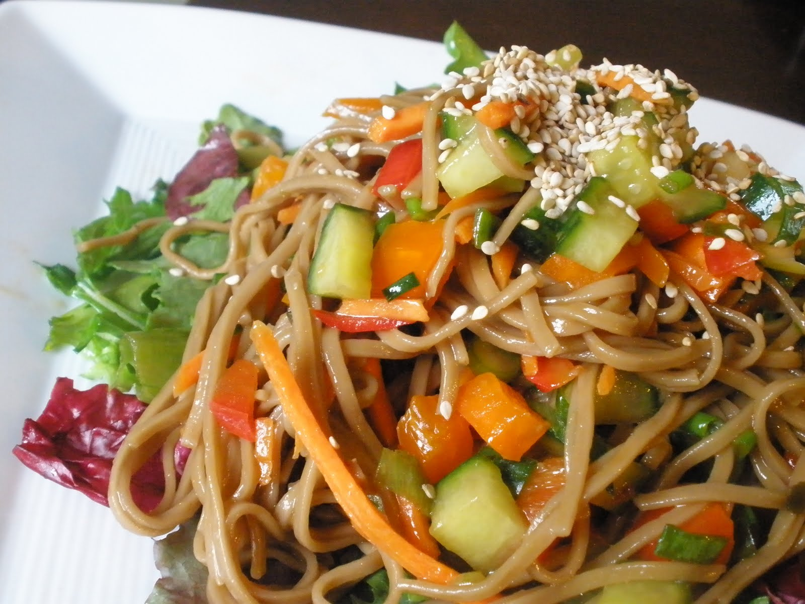 la pure mama.: Soba Noodle Salad