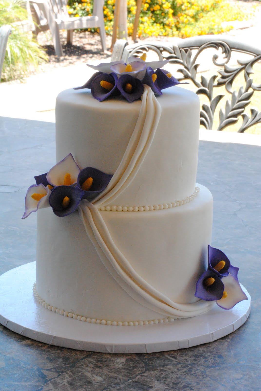 Calla Lilies Wedding Cake My FaVoriTe CaKe PlaCe - Calla Lilly Wedding Cake