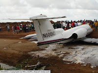 Lear35A Accident at DOM