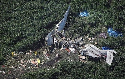 aircraft accident scene