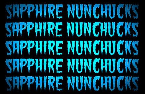 Sapphire Nunchucks