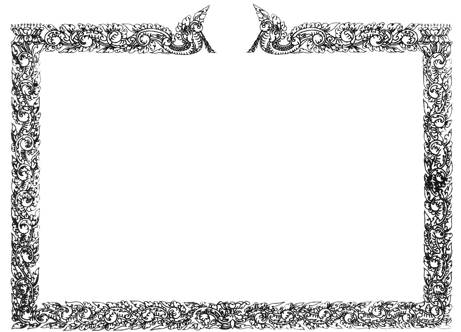 Pen Maneth Printing Border Certificate