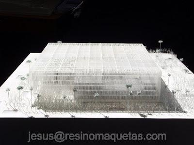 Resino maquetas palacio de congresos alzira valencia for Oficinas bbva toledo