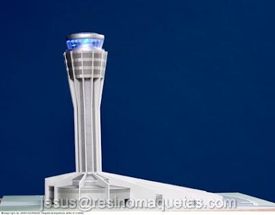 Resino maquetas torre de control argel argelia for Oficinas bbva toledo