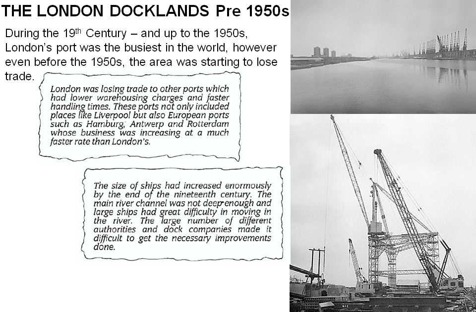 london docklands coursework London docklands historical background:  the coursework write up must be able to demonstrate critical analysis and application of both theory and practical issues to the company that you have selected student may include additional relevant data/information apart from the proposed guidelines in conjunction to your research additional.