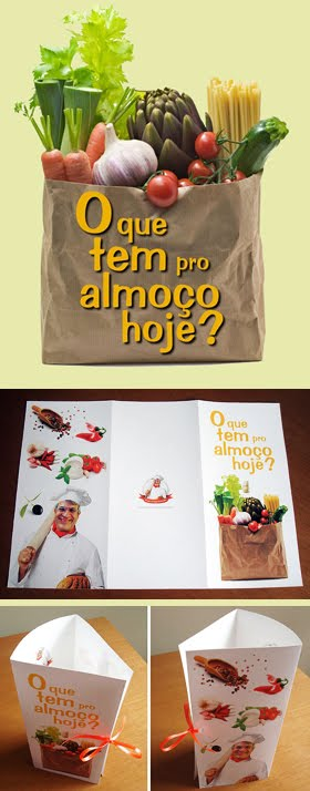 Cardpio para o almoo de aniversrio do meu pai