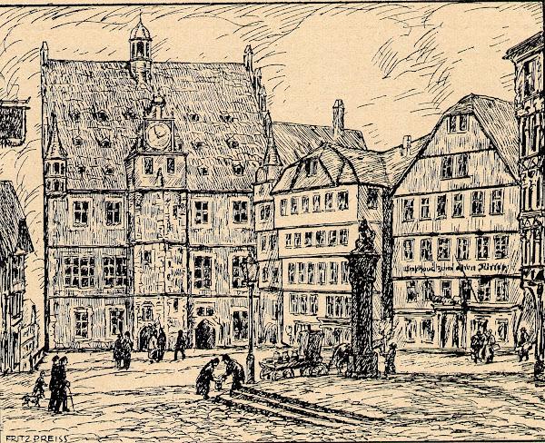 Markplatz in Marburg