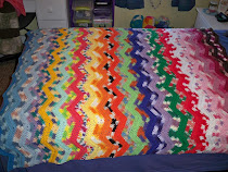 Peaches & Creme Scrap Afghan