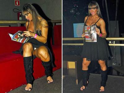 Paniquete Juliana Salimeni paga calcinha