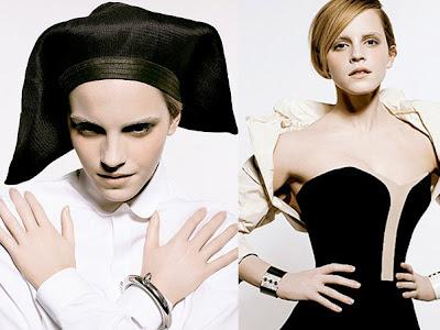 Emma Watson posa de freira fashion