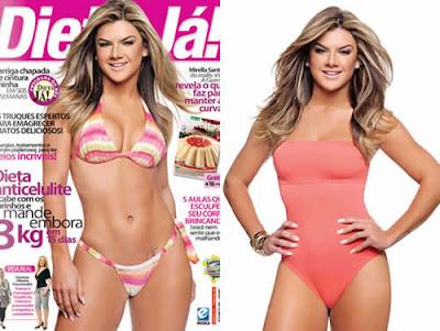 Mirella Santos de biquini na revista Dietas Já!
