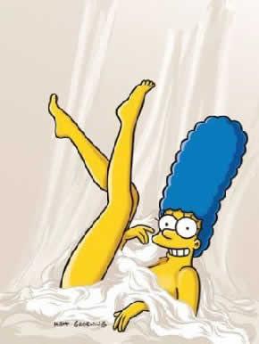 Mais uma foto de Marge Simpson na Playboy