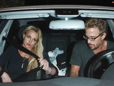 Noite romântica de Britney Spears e Jason Trawick