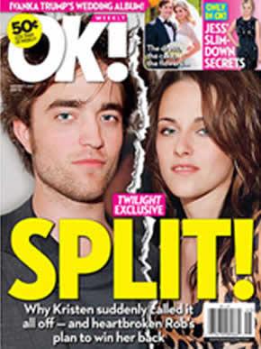 Robert Pattinson e Kristen Stewart terminam namoro