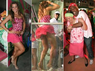 Renata Santos deixa bumbum à mostra