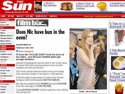 Nicole Kidman grávida: Apenas uma suspeita