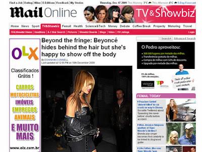 Novo look de Beyoncé: Magra e de franja