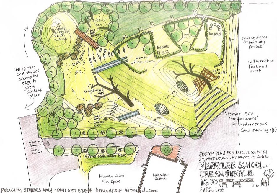 The learning landscape urban jungle in a uk school for Learn landscape design
