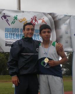 Rodrigo Gomez y el profesor Cabrera