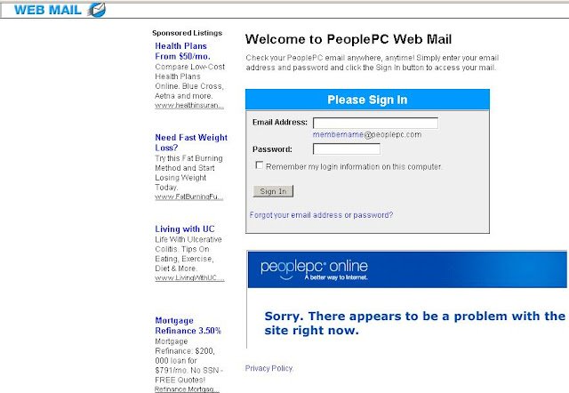 Webmail.PeoplePc.com - Login to PeoplePC eMail Setup