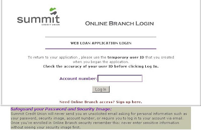  Online Branch Login at webloan.summitcreditunion.com
