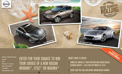 Keepsummerrolling.com - Nissan Keep Summer Rolling Sweepstakes