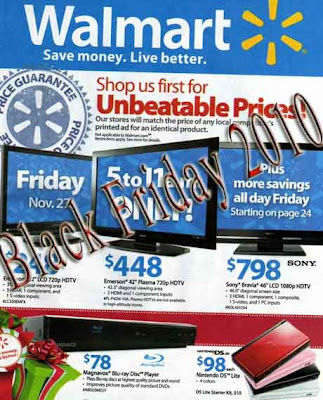 Walmart Black Friday 2010: Deals and Ads