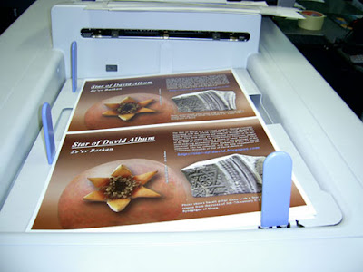 My English Book star of David in the Printing Machine Tray