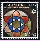 מגן דוד על גבי בול מברבדוס
