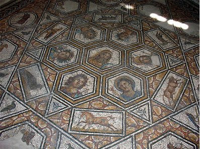 six-pointed star shaped Bir Chana Mosaic Floor