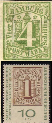 Hamburg Postage Stamp hexagram