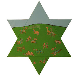 Star of David in The Israeli Art Genesis-3