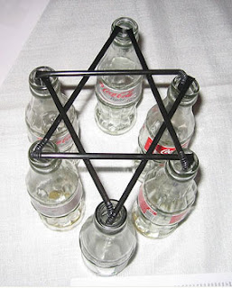 Empty Cola Bottle Holder Hexagram