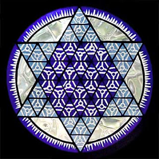 hexagram glass art