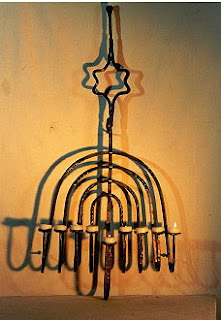 Hanukah Menorah Magen David Israeli art