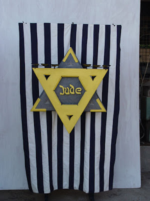 Israeli ART Yellow Badge sculpture