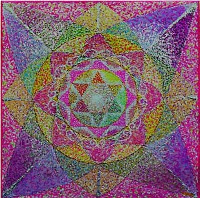 Magen-David-rose-mandala Israeli art
