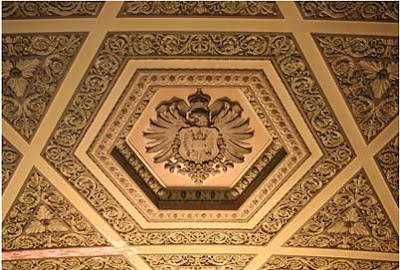 Post Office Ceiling Hexagram
