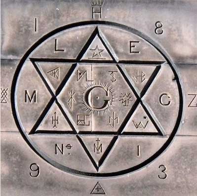 Free Masons' hexagram